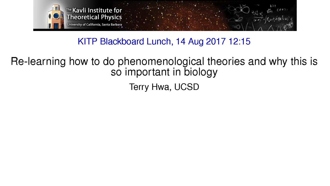 Video: Terry Hwa, UCSD
