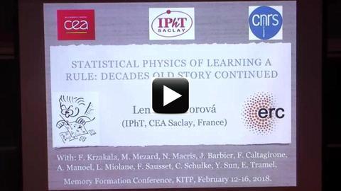 Lenka Zdeborova (CEA Saclay), Statistical physics of