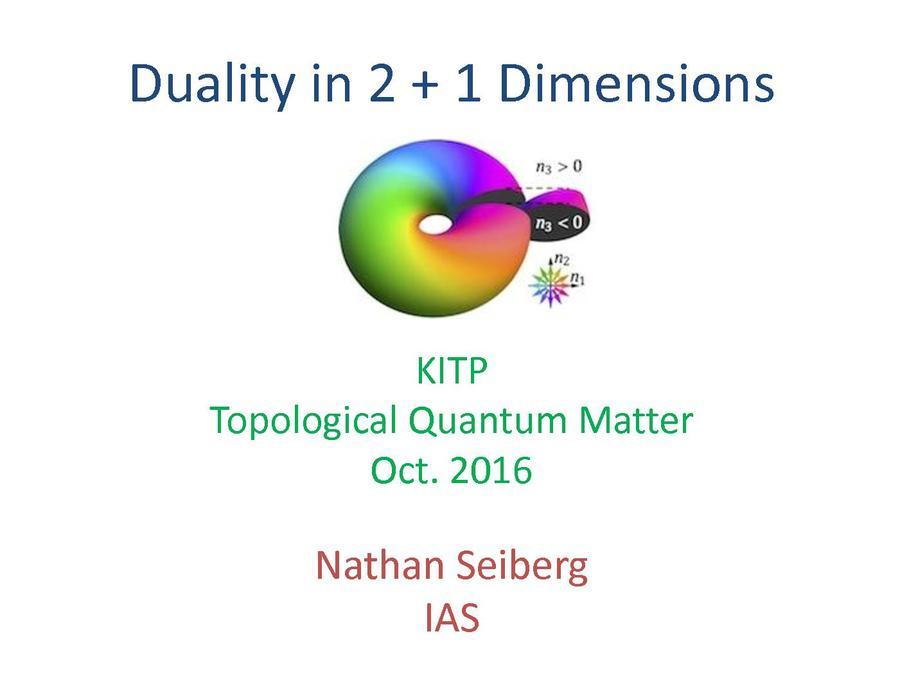 Nathan Seiberg (IAS, Princeton) 01